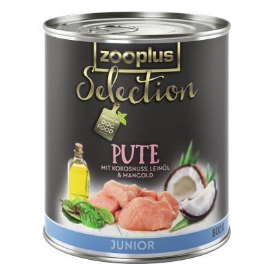 zooplus Selection Junior krůtí 6 x 400 g