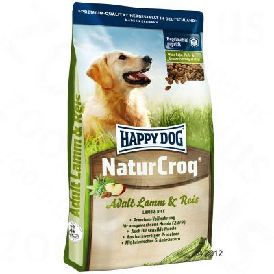 Happy Dog NaturCroq Lamm & Reis - 15 kg