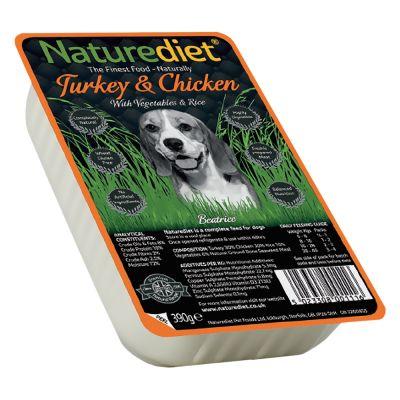 Naturediet Adult 18 x 390g - Viljaton - Turkey & Chicken