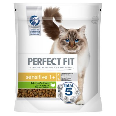 Perfect Fit Sensitive 1+ Rich in Turkey - säästöpakkaus: 5 x 1,4 kg
