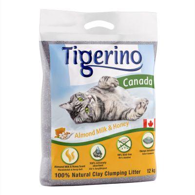 Limited Edition: Tigerino Canada Almond Milk & Honey -kissanhiekka - säästöpakkaus 2 x 12 kg