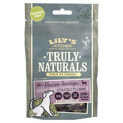 Lily's Kitchen Truly Naturals Mini Venison Sausages Dog Treats