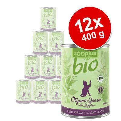 zooplus Bio -säästöpakkaus 12 x 400 g - kana & porkkana