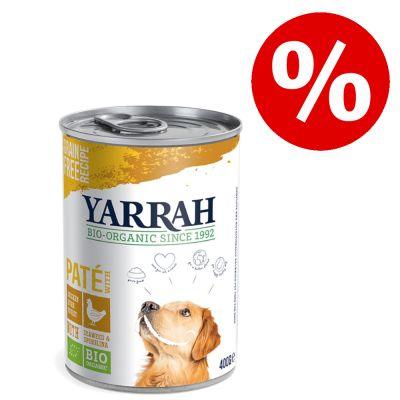 12 x 380 g / 400 g / 405 g / 820 g Yarrah Organic erikoishintaan! - Bio Paté, sianliha (12 x 400 g)