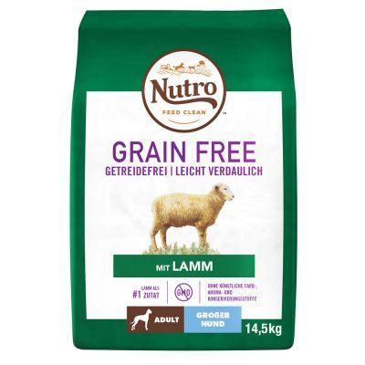 Nutro Hund Grain Free Adult Grosse Hunde Lamm