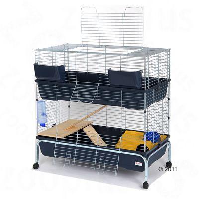 Essegi Baffy 100 smådjursbur, två våningar – B 100 x D 53 x H 102 cm