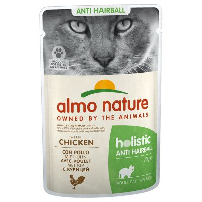 Almo Nature Holistic Anti Hairball 70g - 6 x nauta