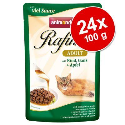 Animonda Rafiné 24 x 100 g - Adult, siipikarjaa & nautaa juustokastikkeessa