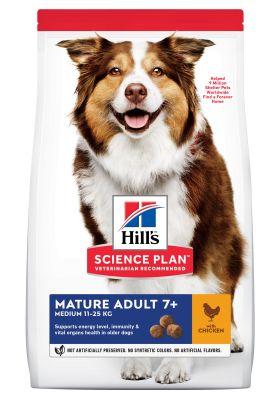 Hill's Mature Adult 7+ Medium Science Plan con pollo - Comida húmeda: 6 x 354 g Mature 7+ Estofado con pollo