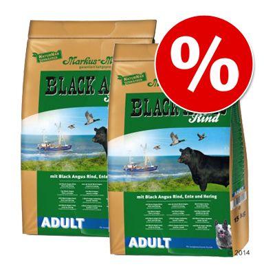 Markus Mühle Black Angus -säästöpakkaus 2 x 15 kg - Black Angus Junior