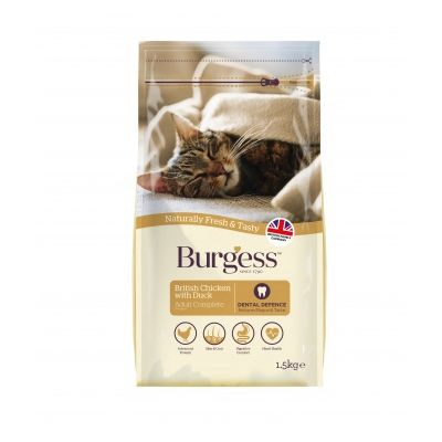 Burgess Chicken & Duck Adult Dry Cat Food