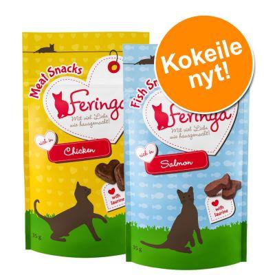 Feringa Snacks -kokeilupakkaus, monta makua - 2 x 35 g lohiherkut + kanaherkut