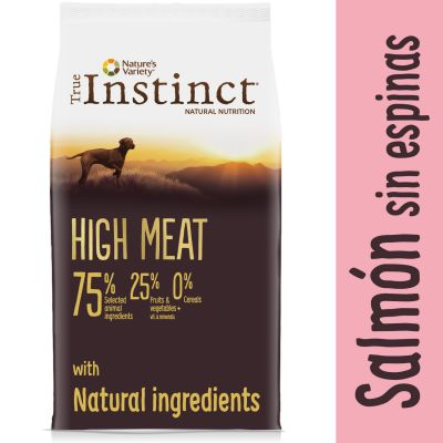 Nature's Variety True Instinct High Meat Medium-Maxi con salmón y atún - Comida húmeda: salmón y pollo 4 x 300 g