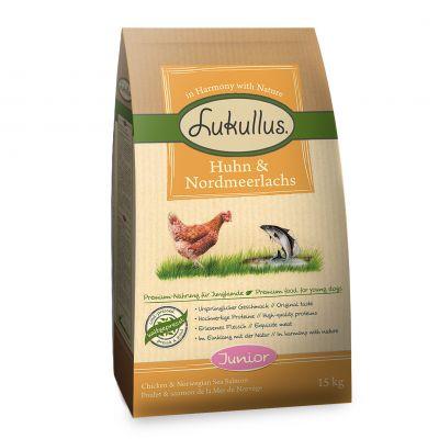 Lukullus Junior Kyckling & nordsjölax – 1,5 kg