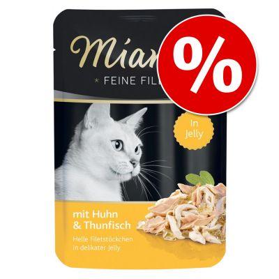 Miamor Fine Filets in Jelly kissanruoka 24 x 100 g erikoishintaan! - tonnikala & mustekala
