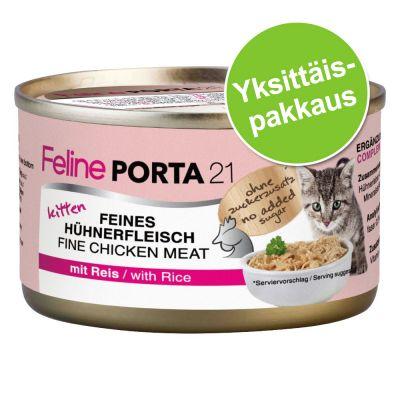Feline Porta 21 Kitten, kana & riisi 1 x 90 g - 1 x 90 g