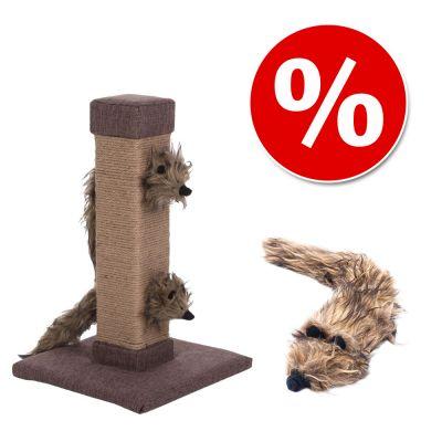 Kissan matatabipaketti: Silver Vine-raapimispuu + lelufretti – raapimispuu + pehmolelu