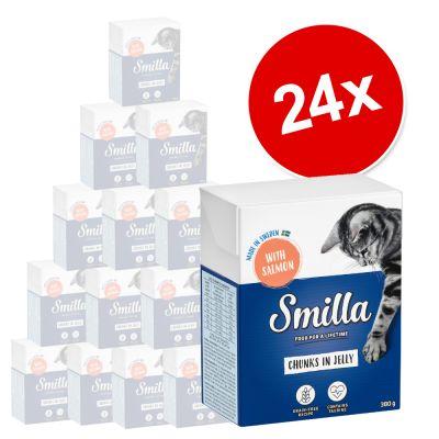 Smilla Chunks in Jelly säästöpakkaus 24 x 380 g - lohi