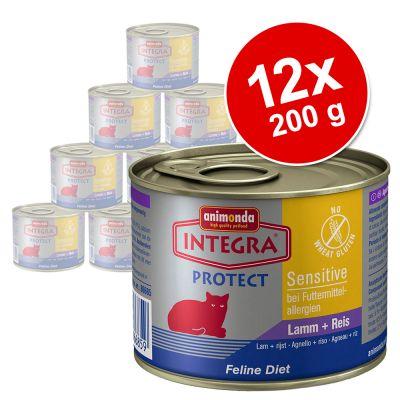 voordeelpakket-integra-protect-sensitive-12-stuks-kuipje-lam-rijst-12-x-100-g
