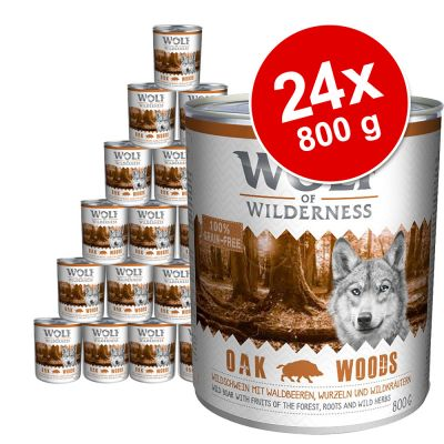 Wolf of Wilderness -megapakkaus 24 x 800 g - Green Fields - lammas