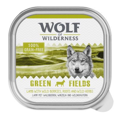 "Wolf of Wilderness Adult Schale ""Green Fields"" - Lamm"