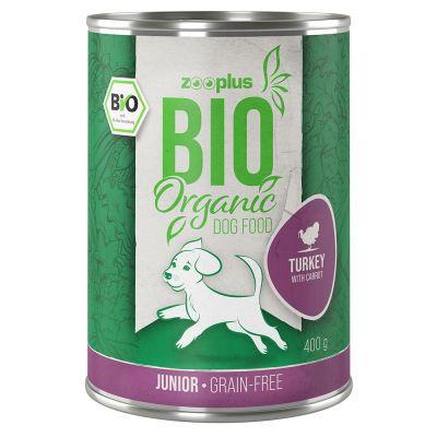zooplus Bio Junior krůtí s mrkví 6 x 400 g