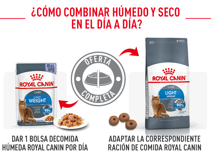 Royal Canin Light Weight Care en gelatina alimentación mixta