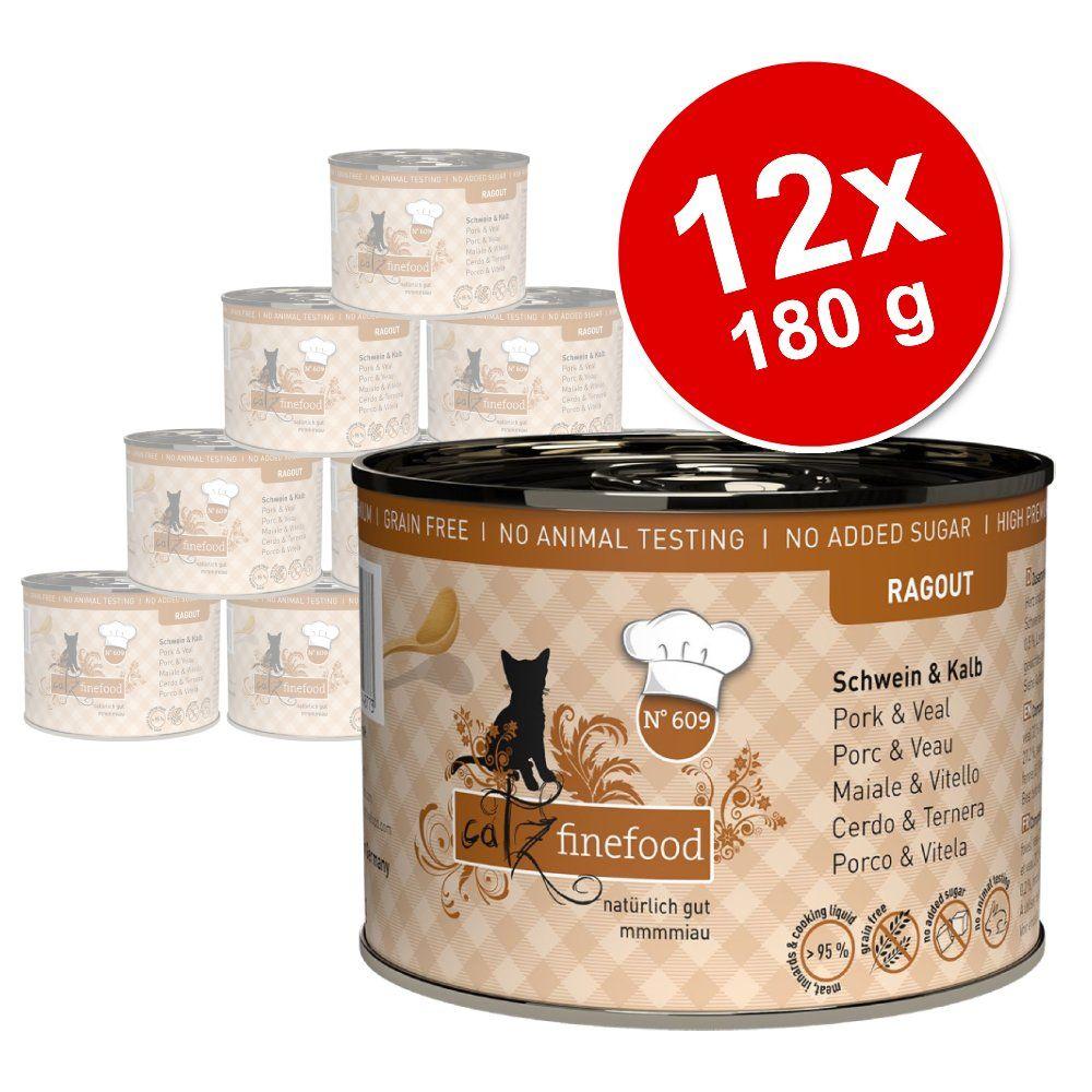 12x180g Ragoût No. 613 poulet, moules catz finefood - Pâtée pour chat