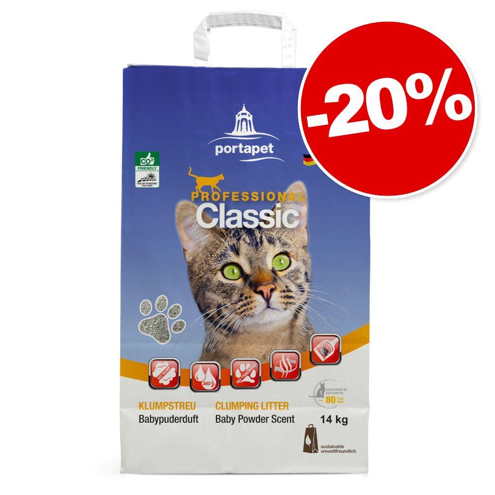 14kg avec absorbeur d'odeurs Professional Classic Litière pour chat