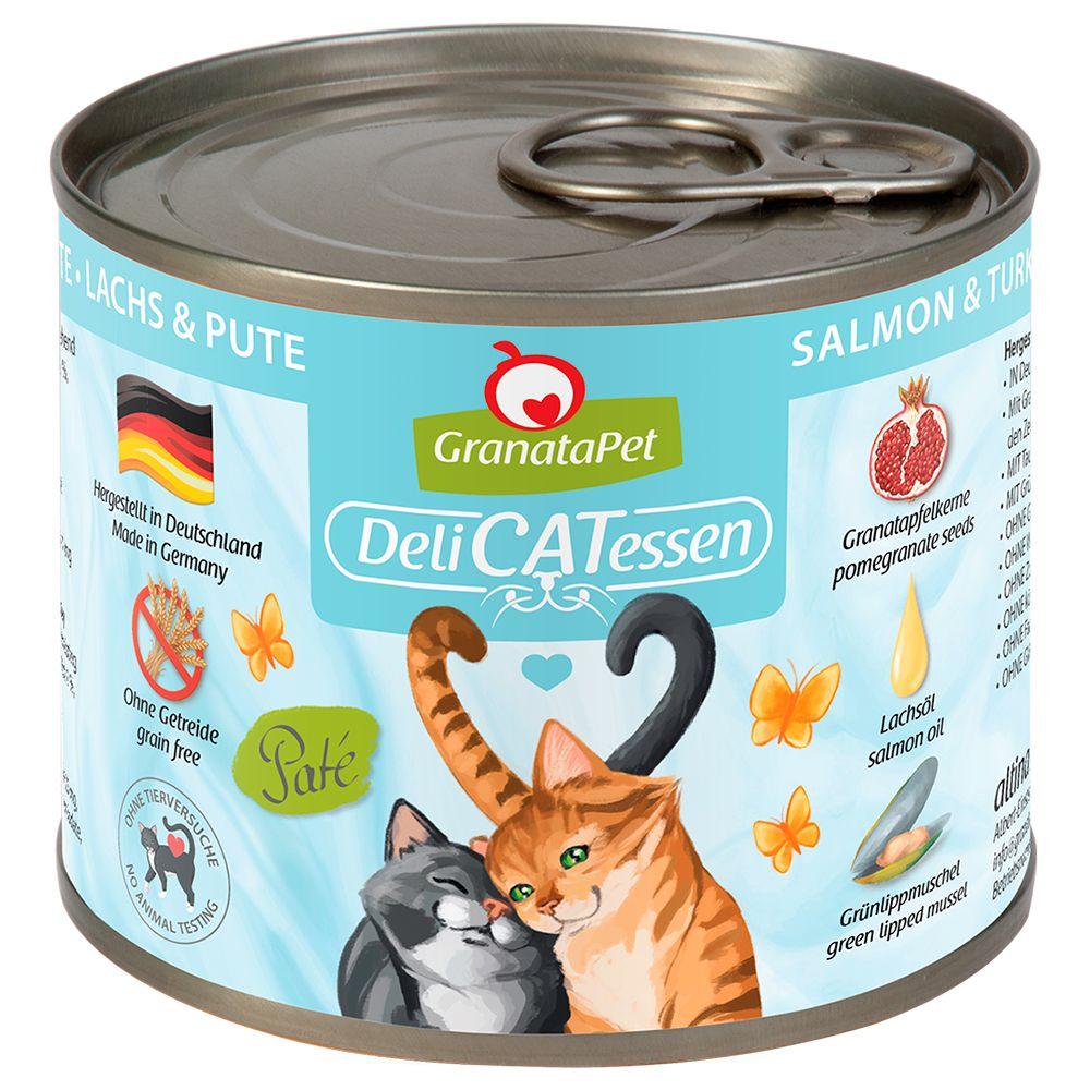 6x200g DeliCatessen saumon / dinde Granatapet - Nourriture pour Chat