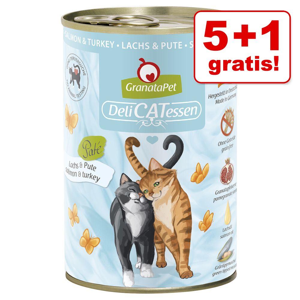 5 + 1 på köpet! 6 x 400 g GranataPet DeliCatessen - Tonfisk & anka