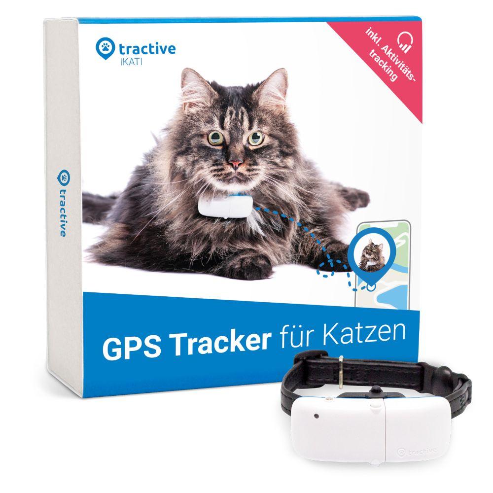 Tractive GPS- und Aktivitätstracker & Halsband für Katzen - weiß