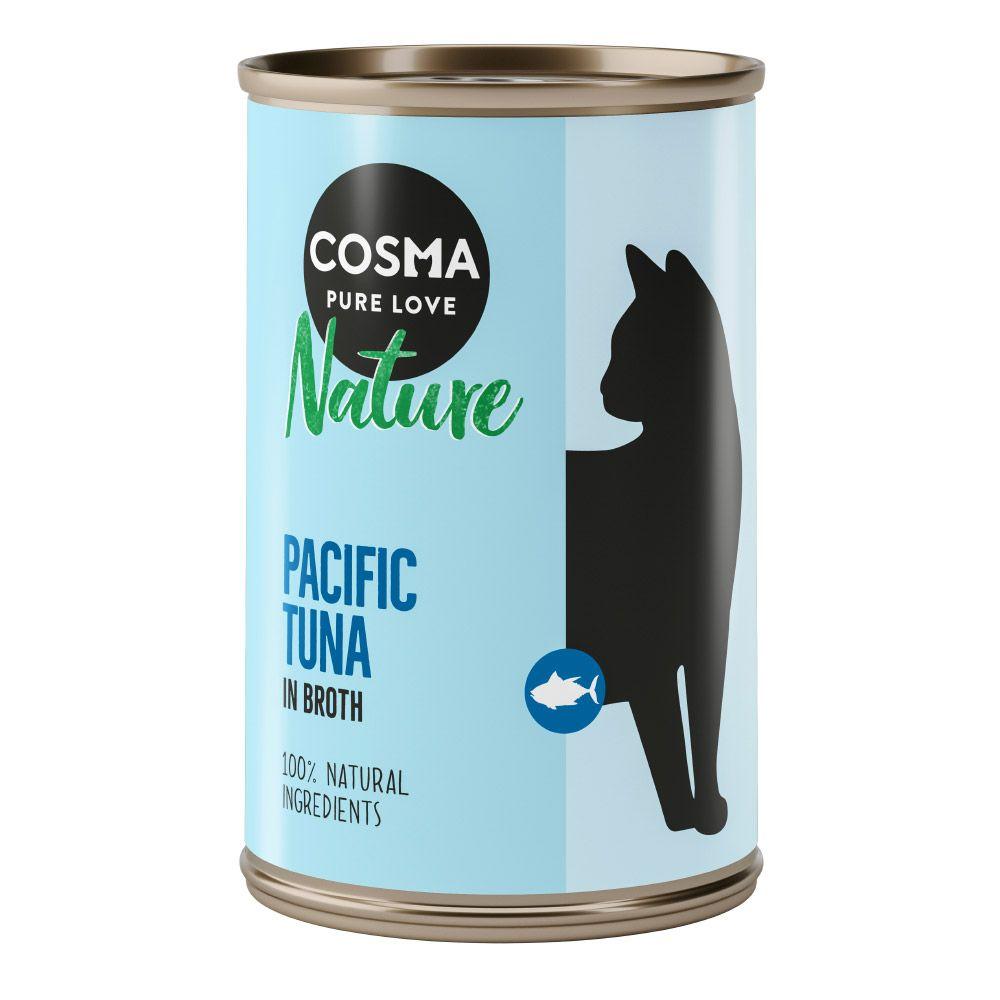 Cosma Nature 6 x 140 g - Neu: Hühnchen & Thunfisch mit Käse