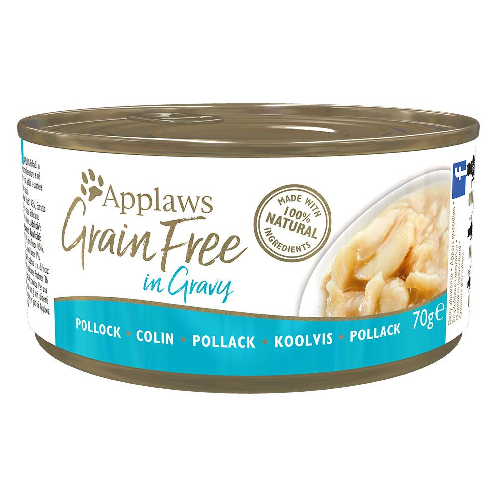 Chicken with Duck Grain Free in Gravy Applaws Wet Cat Food