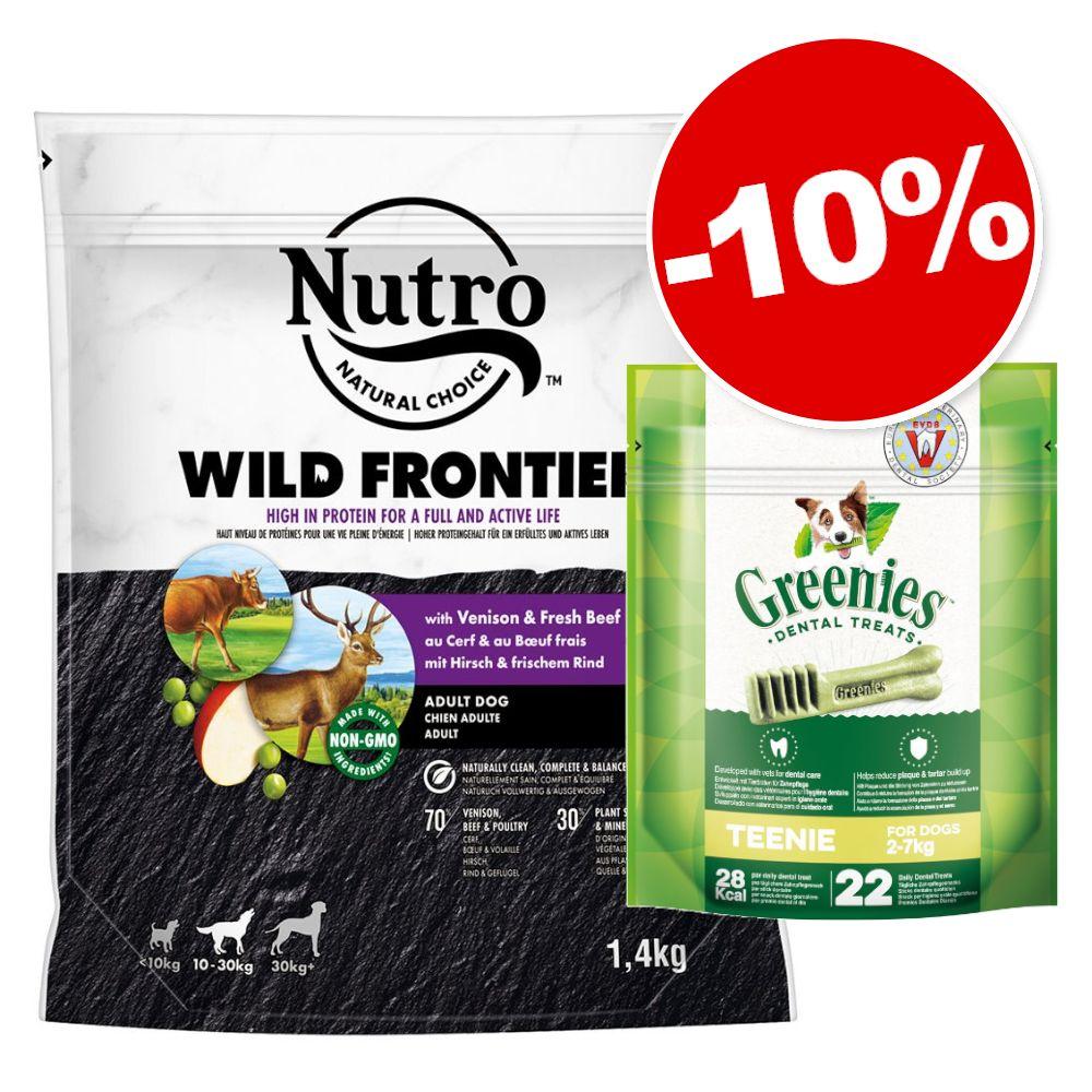 1.4kg Wild Frontier Adult cerf, bœuf + 22 friandises Soin dentaire Teenie (170g) Greenies pour chien