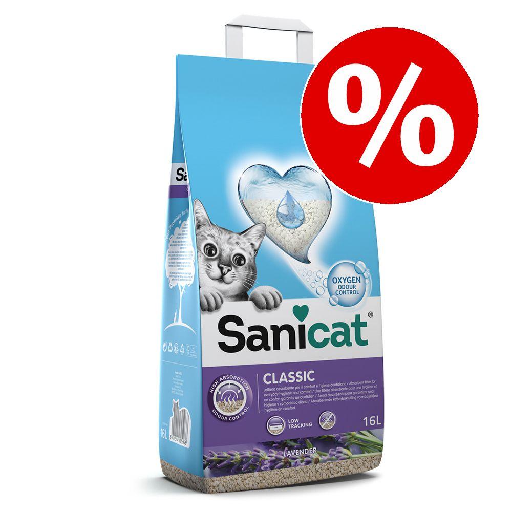 16 l Sanicat Katzenstreu zum Sonderpreis! - Classic Lavendel