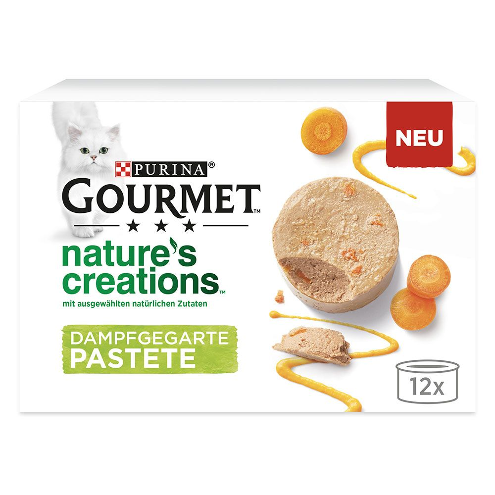 12 x 85g Gourmet Nature's Creations Pâté Wet Cat Food - 20% Off!* - Salmon & Green Bean