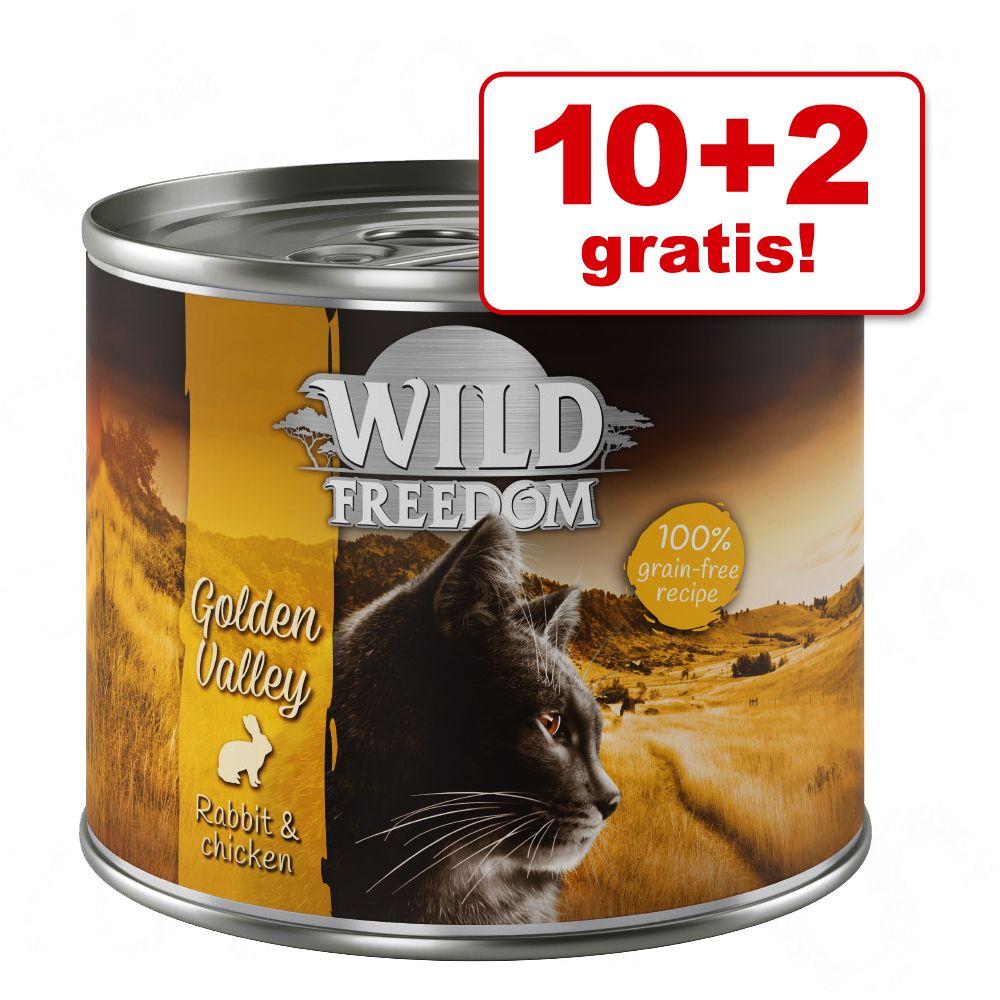 10 + 2 gratis! Wild Freedom Adult 12 x 200 / 400 g - Green Lands - Lam & Kylling 12 x 400 g