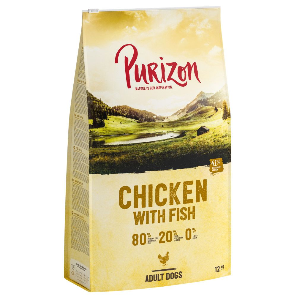 New Recipe: Purizon Grain-Free 80:20:0 Economy Packs 2 x 12kg - Adult Lamb with Salmon – Grain-free (2 x 12kg)