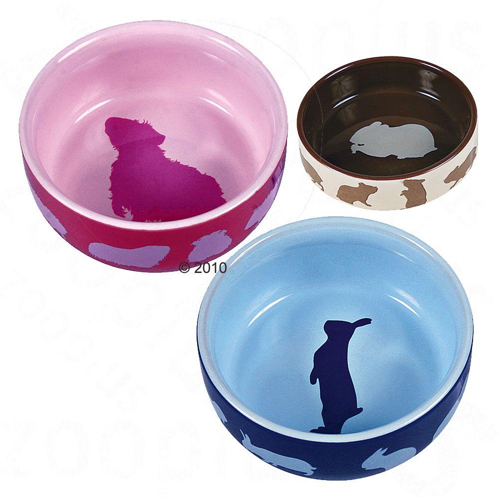 Trixie miseczki ceramiczne dla gryzoni - Ø 11 cm, 250 ml, dla królika