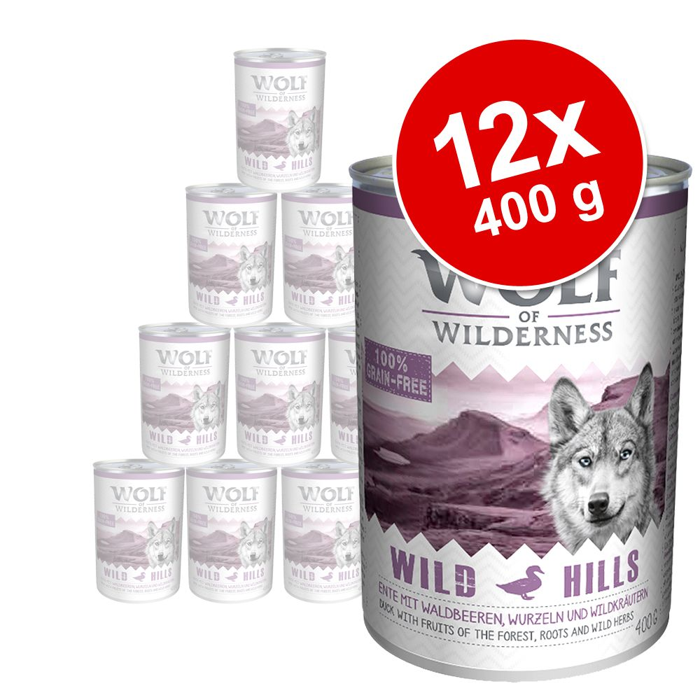 Ekonomipack: Wolf of Wilderness 12 x 400 g - Arctic Spirit - Reindeer