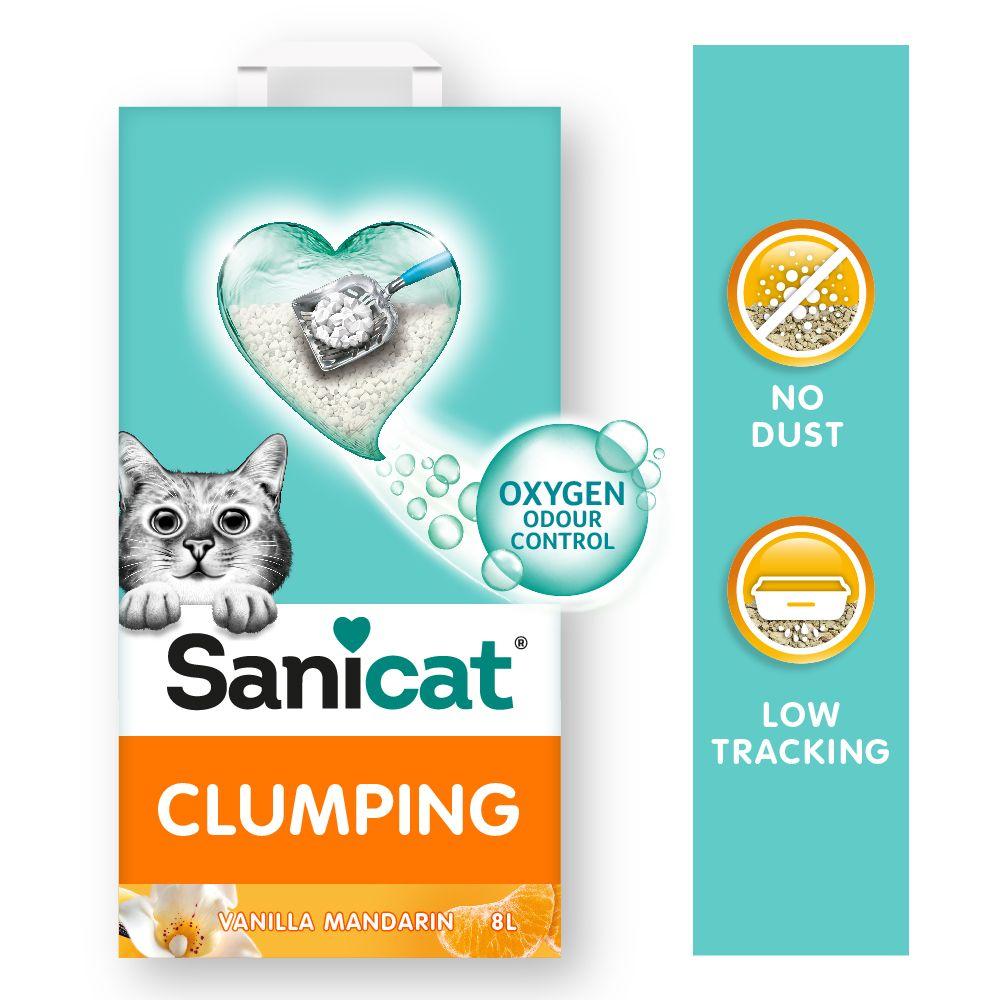 Sanicat Vanilla & Mandarine klumpbildande strö - 8 l