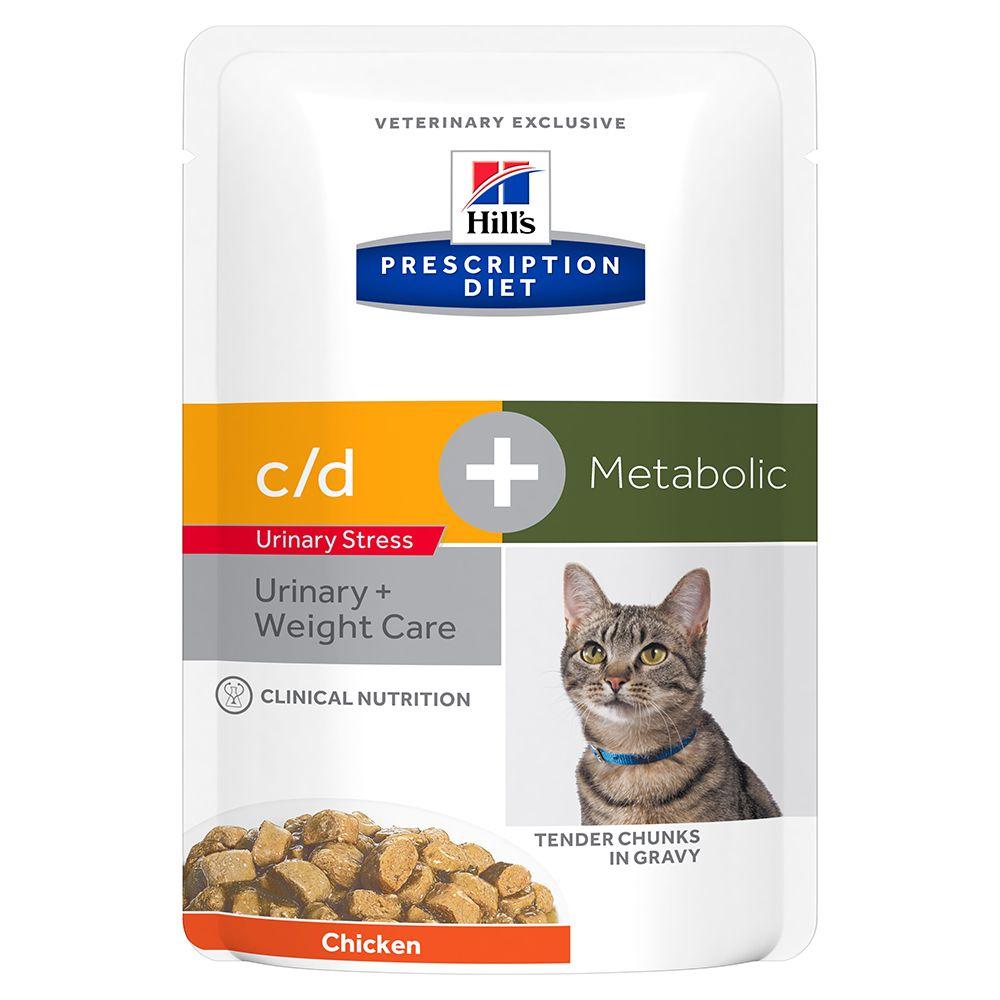 48x85g c/d Urinary Stress + Metabolic Hill's Prescription Diet kattemad