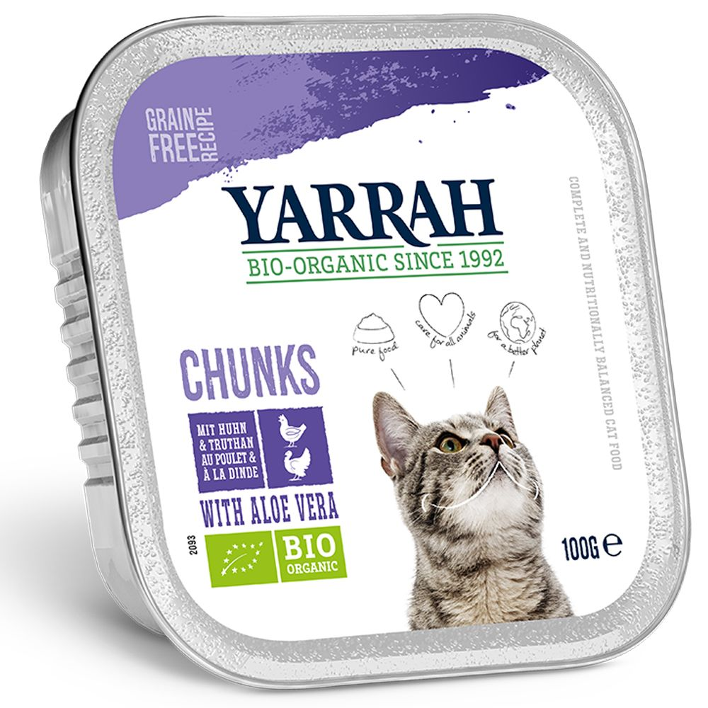 Fish with Spirulina Yarrah Organic Chunks in Gravy Wet Cat Food