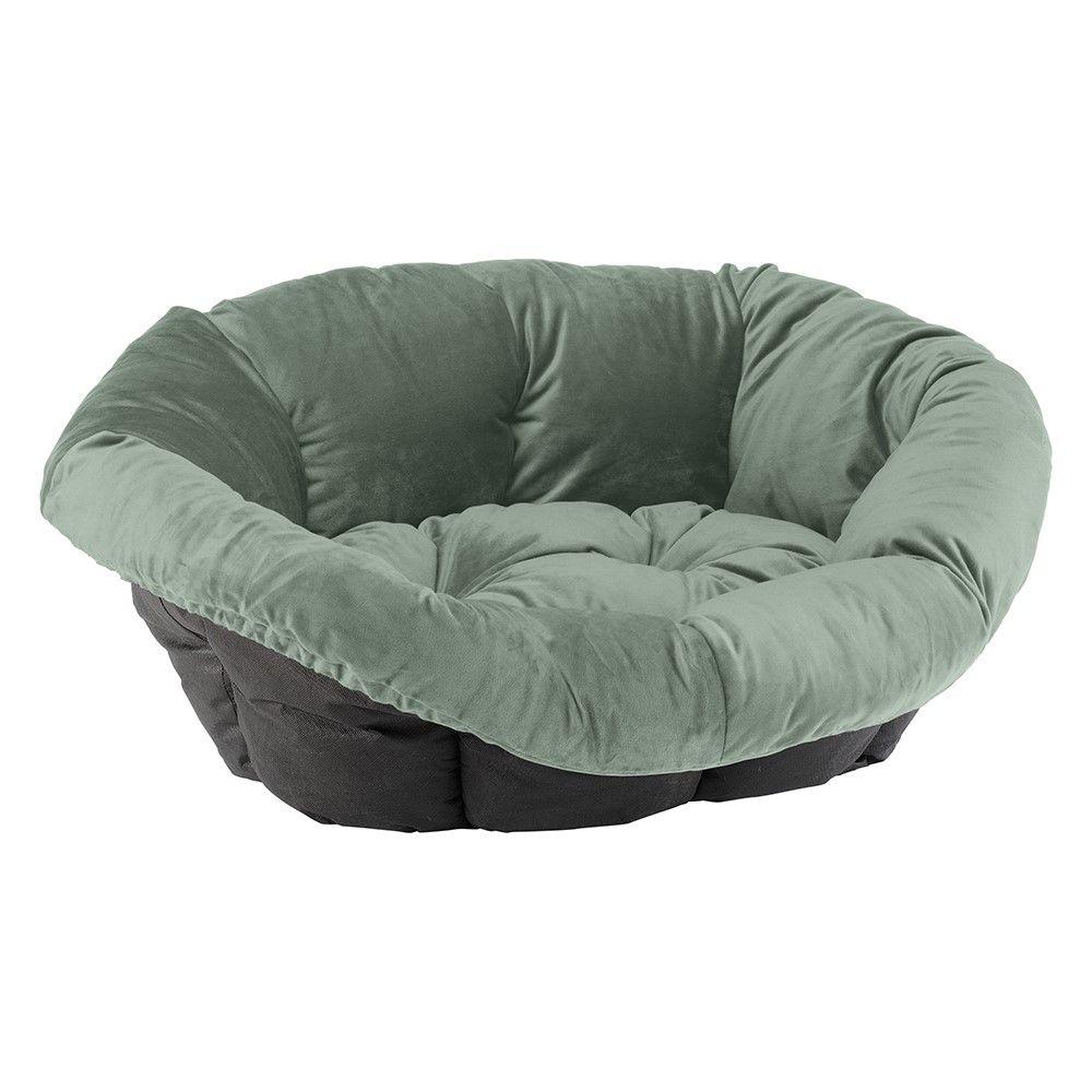 Mit dem praktischen Kunstoff-Korb und dem wunderschönen Überzug Sofà samt grün aus dem Hause Ferplast bescheren Sie Ihrem Hund oder Ihrer Katze einen wahrlich royalen Schlafplatz. Die samtige Oberfläche in ansprechendem Grün ist nicht nur besonders weich, sondern überzeugt auc...