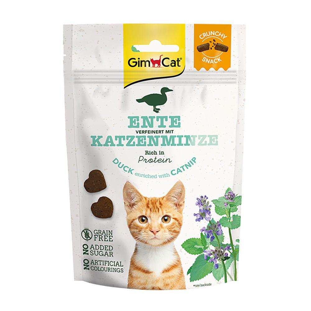 GimCat Crunchy Snacks - Ekonomipack: 3 x 50 g Anka med kattmynta