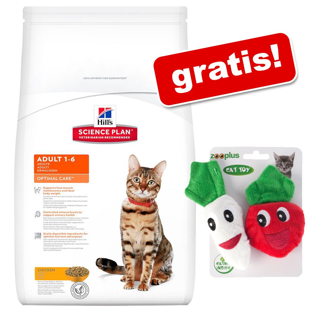 10 kg Hill's Feline + Catnip Veggies på köpet! - Mature Adult 7+ Active Longevity Chicken