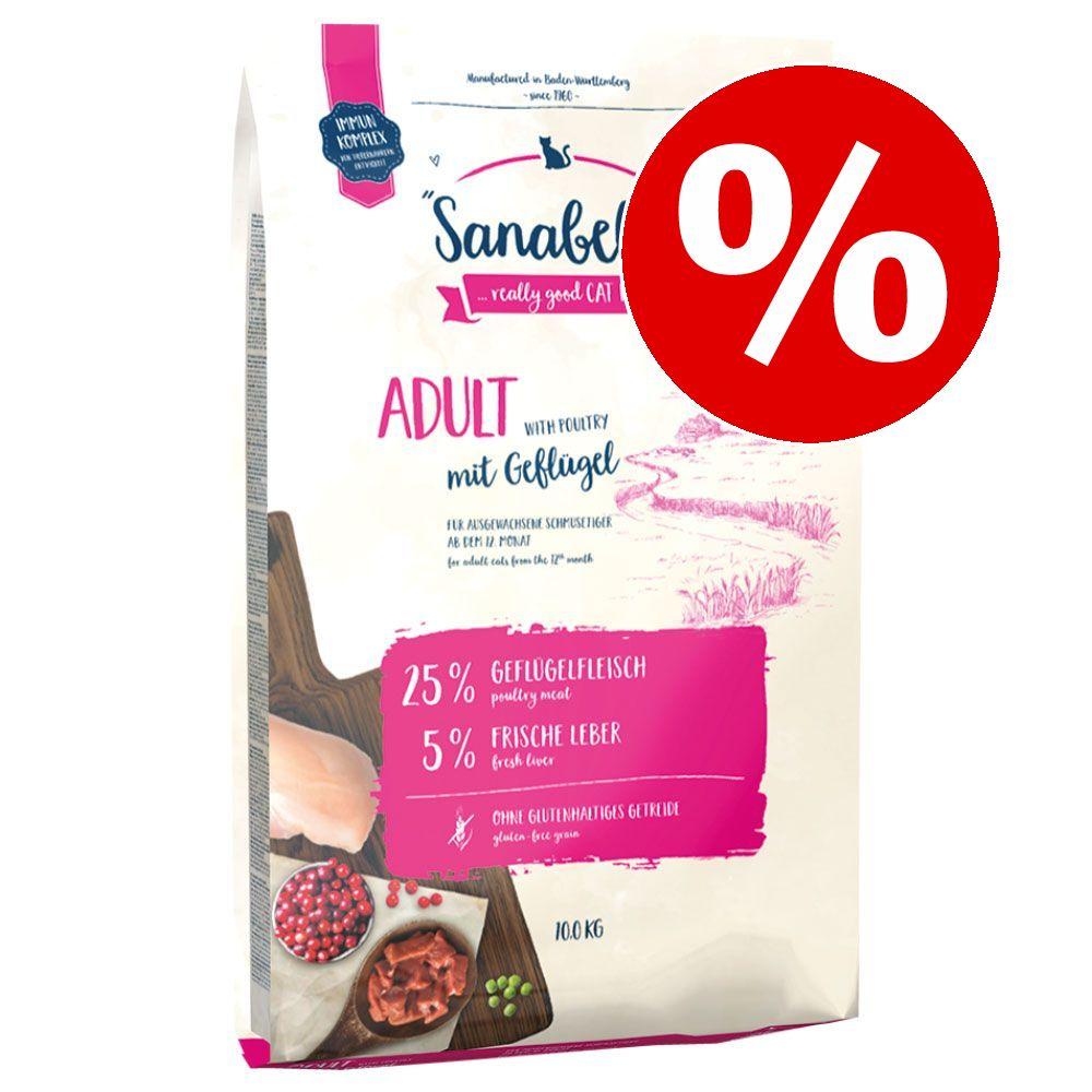 10 kg Sanabelle Katzenfutter zum Sonderpreis! - Adult mit Strauß