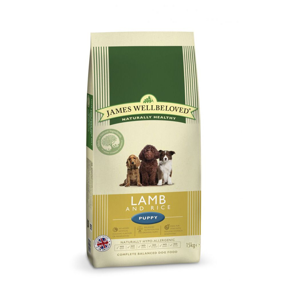 James Wellbeloved Puppy - Lamb & Rice - Economy Pack: 2 x 15kg