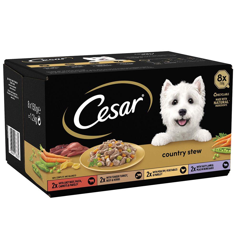 24x150g Cesar Les recettes de campagne - Pâtée pour chien